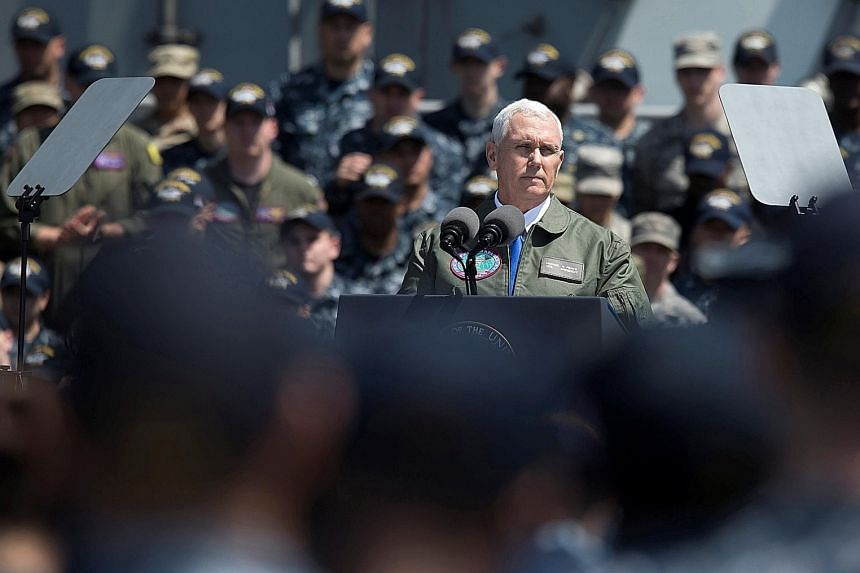 """American Vice-President Mike Pence, in his speech delivered last week on the flight deck of the USS Ronald Reagan carrier at Yokosuka naval base in Japan, warned that the US """"shield stands guard, the sword stands ready"""". This is a message that cannot"""