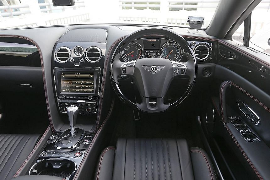 The Flying Spur V8S has plenty of chrome, wood and leather in the cabin.