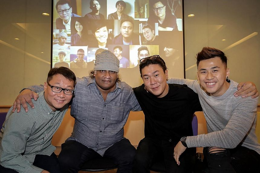Among the 15 film-makers who signed on for the short film project are (above, from left) Kelvin Tong, K. Rajagopal, Sean Ng and Chong Yu Lun.