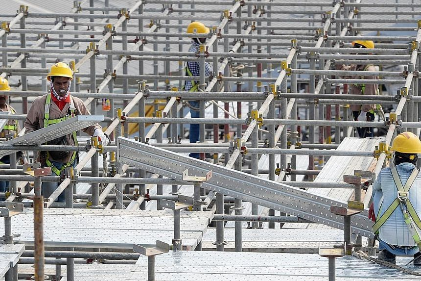 The Government is bringing forward public-sector infrastructure projects to this year and next to provide relief to the construction sector, which saw the sharpest fall in workers in a quarter on record of 12,900.