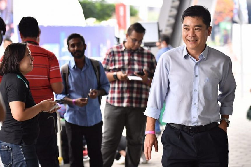 Bernard Tan emerges after he and Team LKT won the FAS election.