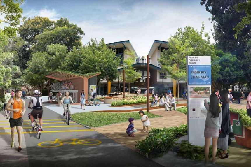 A Discovery Point will be introduced in each of the four neighbourhood centres in Pasir Ris Town, featuring a heritage board, landscaping, seating and cycling facilities.