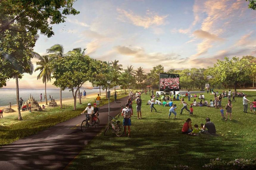 The lawn area, cycling paths and sand play areas at the Pasir Ris Park and Beach will be enhanced to improve the overall beach experience.