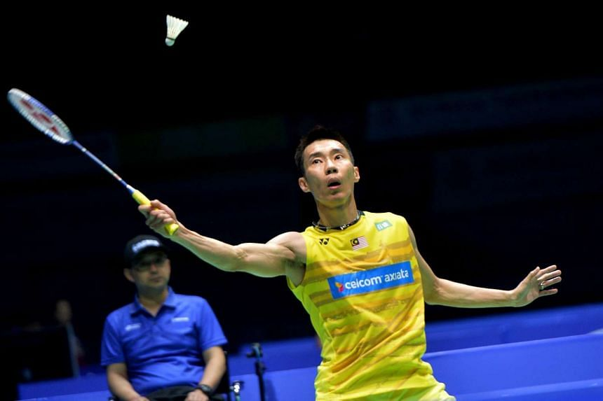 Malaysia's Lee Chong Wei playing in the 2017 Badminton Asia Championships in Wuhan.