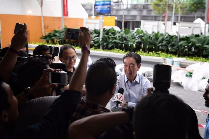 Komoco Motors group managing director Teo Hock Seng speaking to the media after the FAS election.
