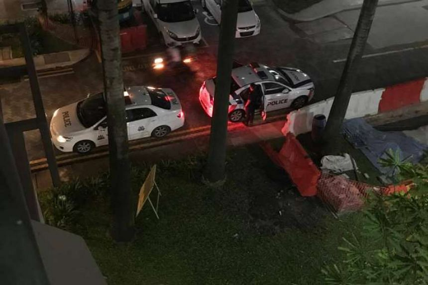 An eyewitness alerted citizen journalism website Stomp to the incident when he saw several police officers and a group of students at the void deck of his flat at around 8.30pm.
