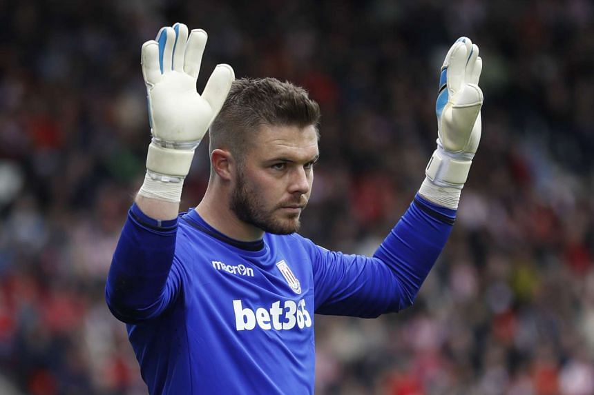 Stoke City's Jack Butland during the match.