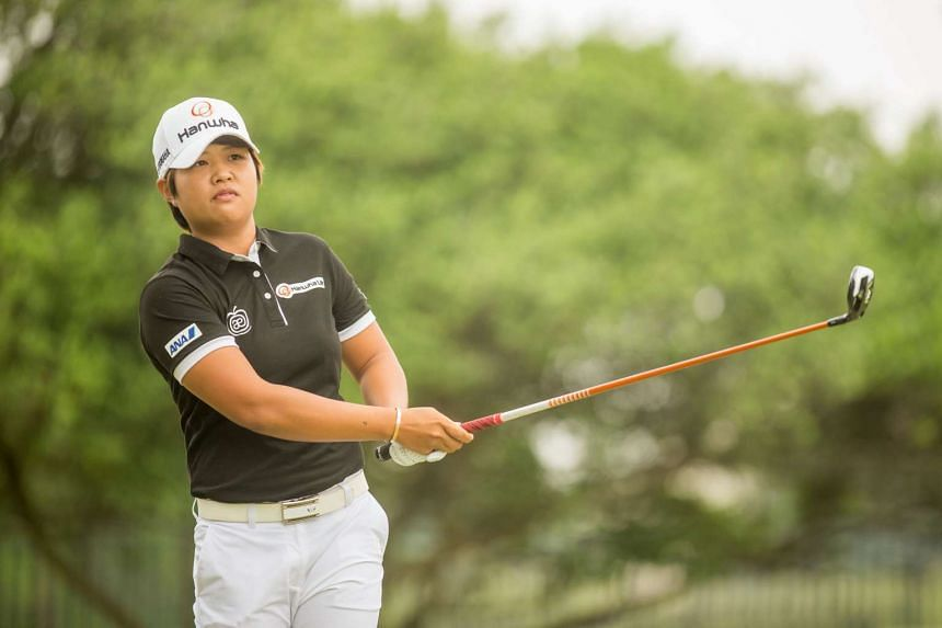 Nomura (above, in a file photo) stretched her lead to two strokes.