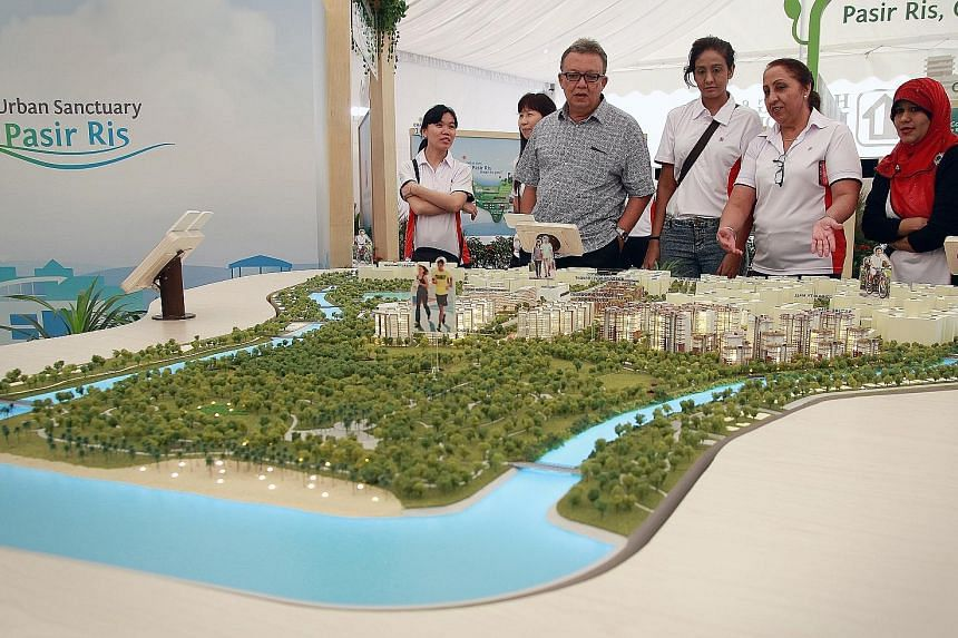 Plans for rejuvenating the town are on display next to Pasir Ris MRT station for public feedback.
