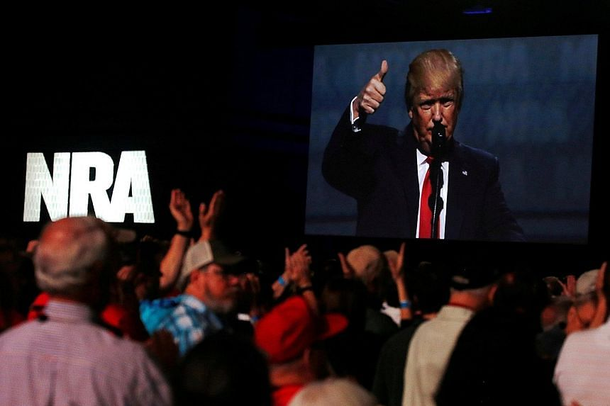 United States President Donald Trump received a thunderous welcome from thousands of gun lovers when he appeared on Friday at the National Rifle Association's annual convention to thank the group for its unwavering support of his presidential campaig