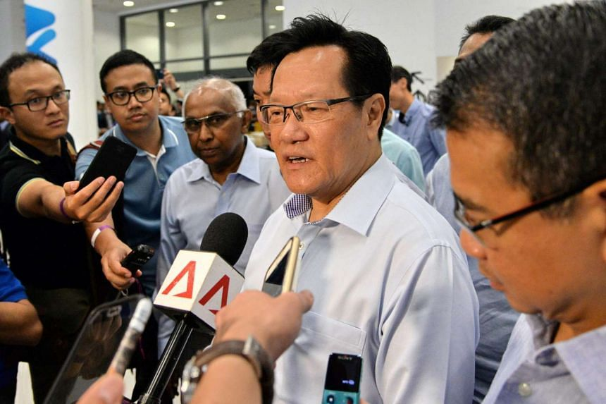 Mr Lim Kia Tong, the newly-elected president of the Football Association of Singapore, talks to reporters after the FIFA-ordered elections in Singapore on April 29, 2017.