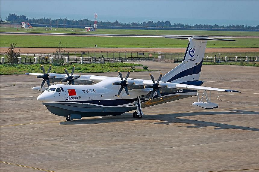 China's AG-600, the world's largest amphibious aircraft, made its first flight on Saturday.