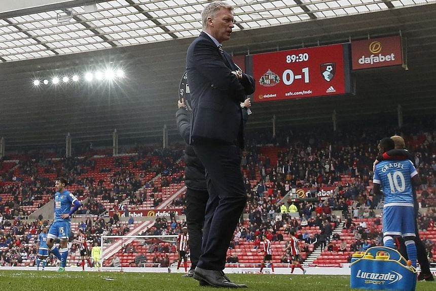 Sunderland boss David Moyes looking glum after relegation was confirmed. The Championship beckons after 10 years of Premier League football.