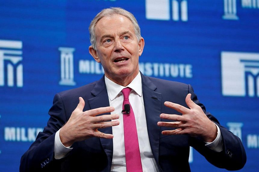 Tony Blair urged Europe's left not to reject globalisation.