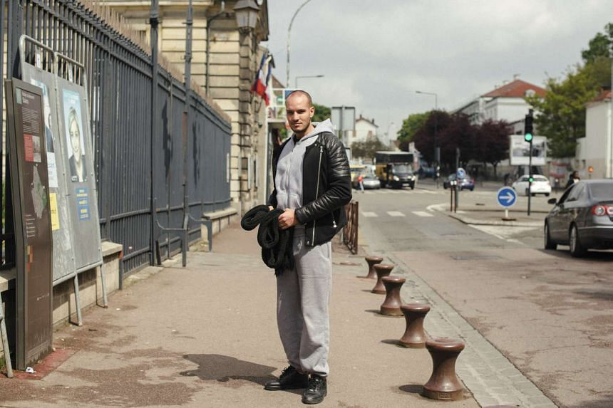 Mr Cheker Messaoudi, a Frenchman of Tunisian heritage, in Stains, France.