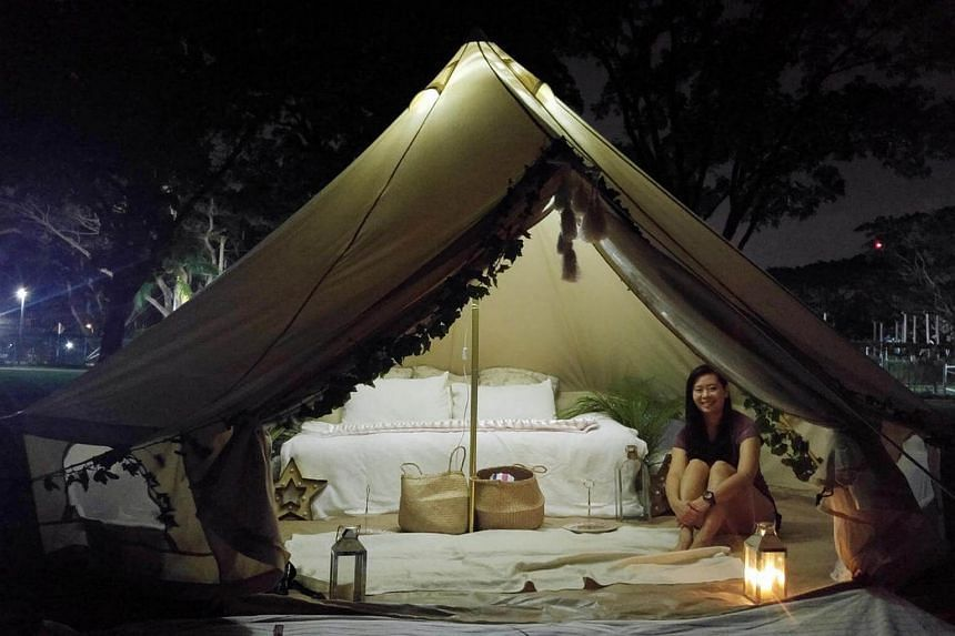 Reporter Janice Tai gives glamping a shot.