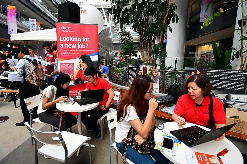 Career coaching service provided by e2i at Tampines Hub on April 29, 2017.