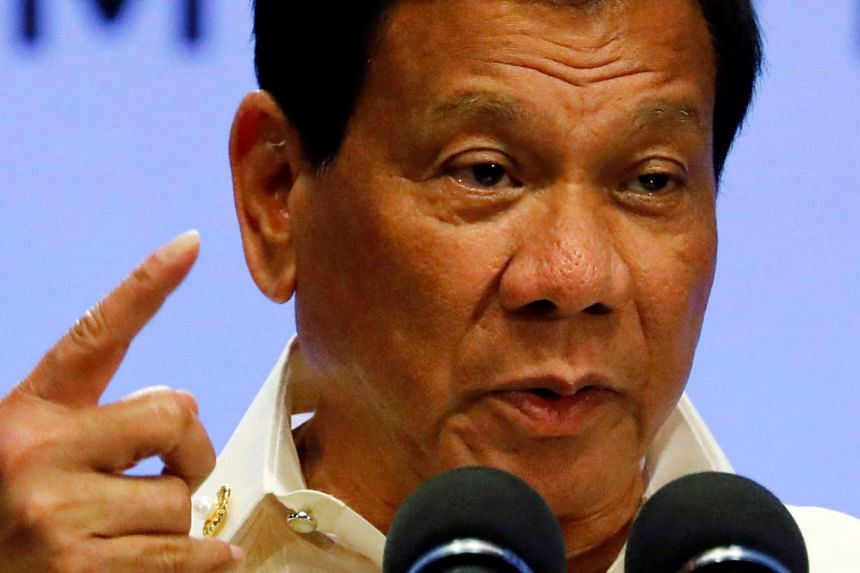 Philippine President Rodrigo Duterte speaks during a news conference after the ASEAN summit in Manila on Saturday (April 29, 2017).