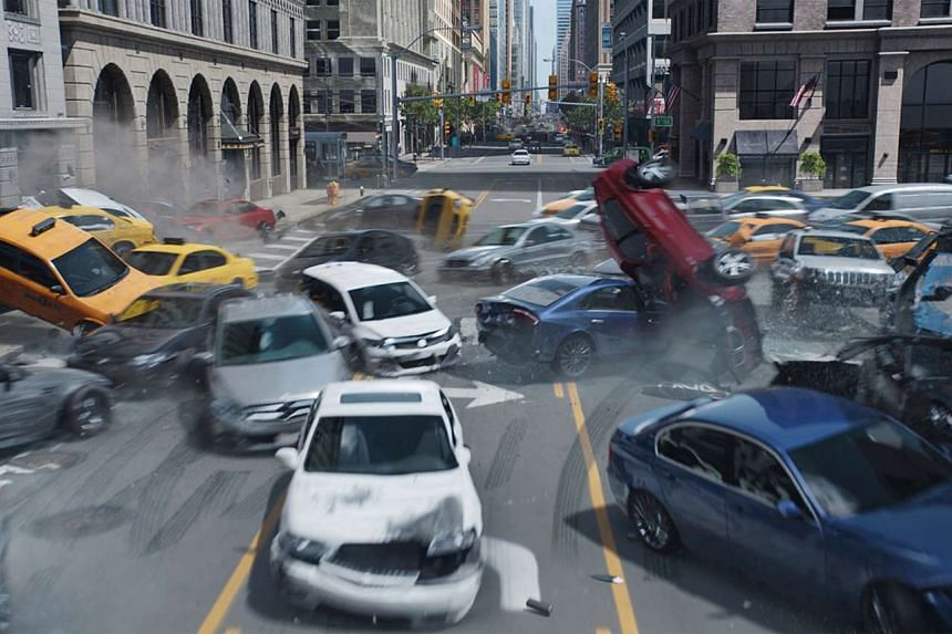 Car crash and chaos ensues in Furious 8.