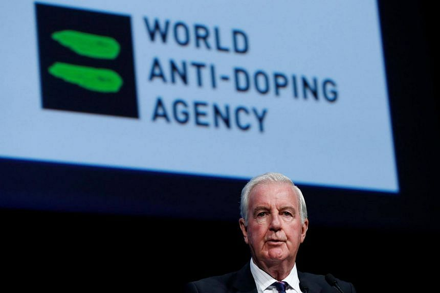 File photo of Mr Craig Reedie, President of the World Anti Doping Agency, at a symposium in Switzerland.