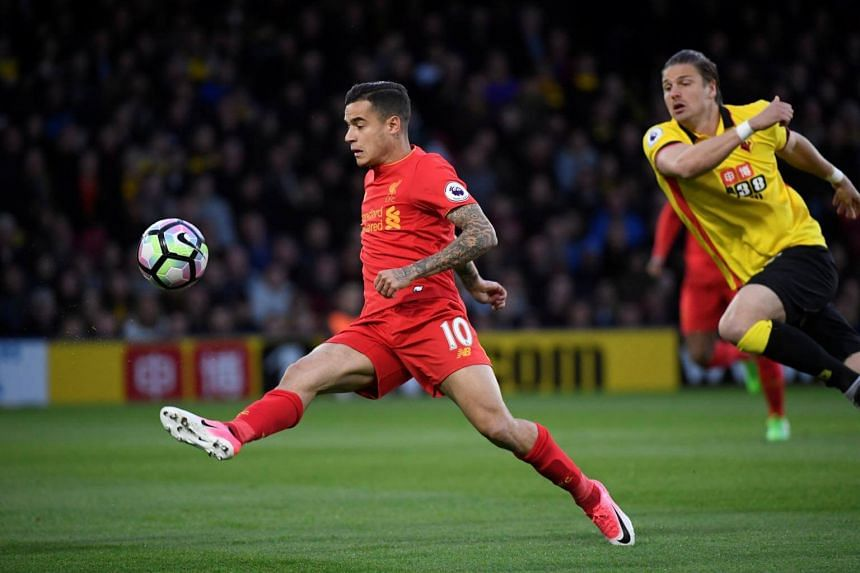 Liverpool's Philippe Coutinho in action.