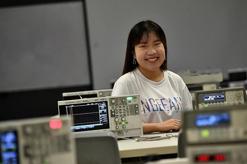 Ms Rachel Tan felt lost and worried for her future when she entered the Polytechnic Foundation Programme at Ngee Ann Polytechnic. But it allowed her to figure out aspects of engineering she enjoys.