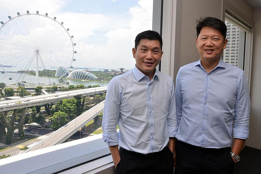 Dymon Asia founders Keith Tan (left) and Danny Yong started out as rivals on the ballgame court in university but became firm friends after taking the same class together in their second year.