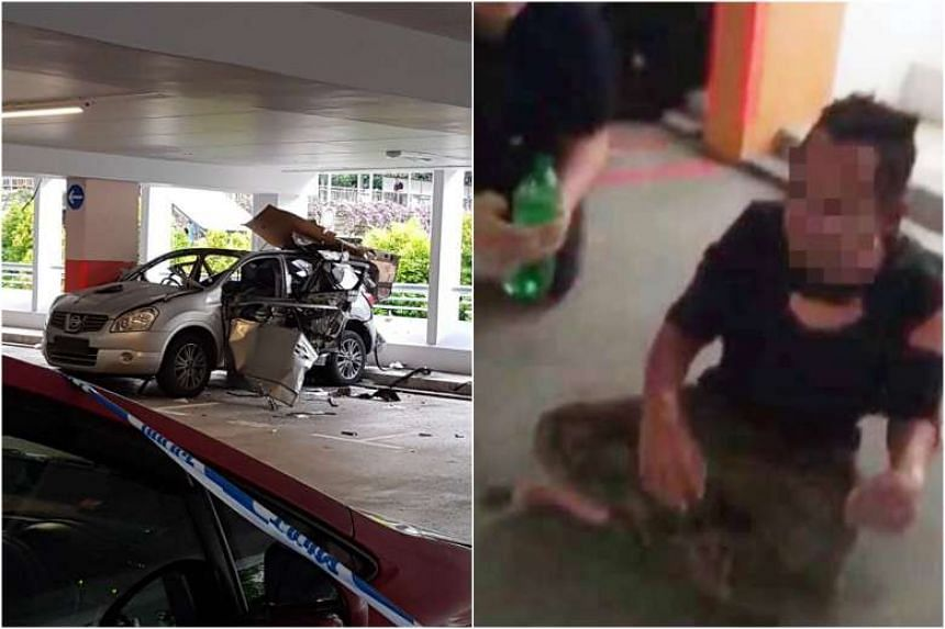 Police have arrested the man injured in an explosion at a carpark in Bukit Batok, SPF announced on May 2, 2017.