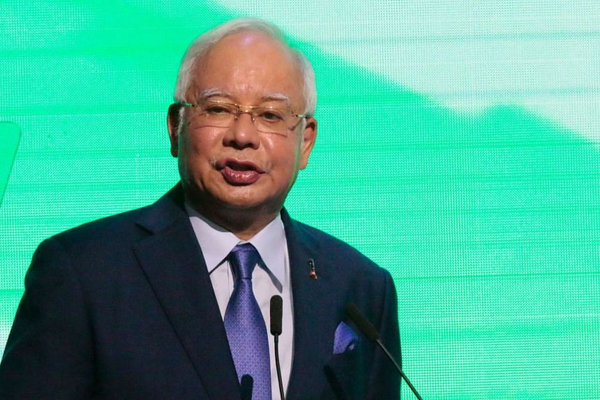 Malaysian Prime Minister Najib Razak speaking at a forum on the sidelines of the Asean summit in Manila on April 28, 2017.