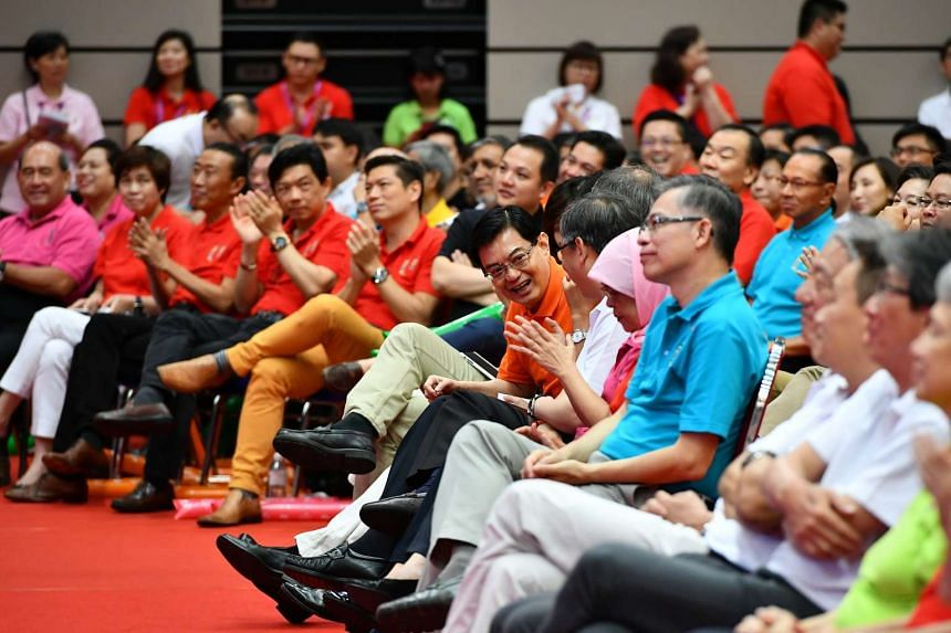 Finance Minister Heng Swee Keat at the Annual May Day Rally at Our Tampines Hub on May 1, 2017.