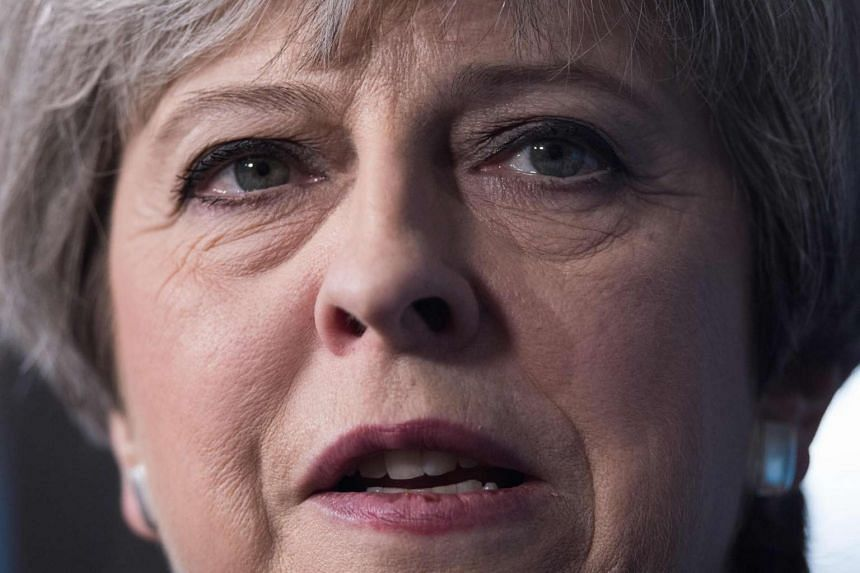 Prime Minister May delivers a speech to supporters in north west England on May 1, 2017.
