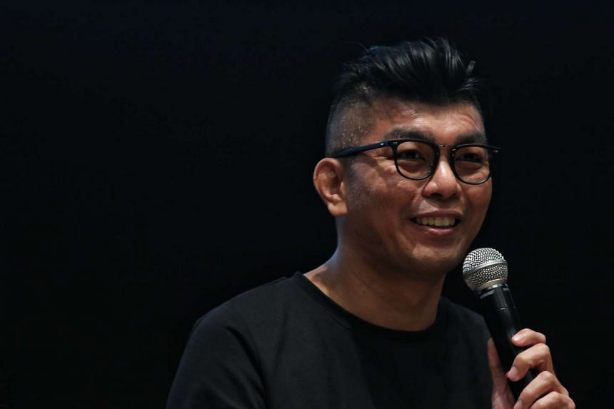 Royston Tan speaking during a sharing session as part of the second installation of the My Singapore Future Micro Film Competition.
