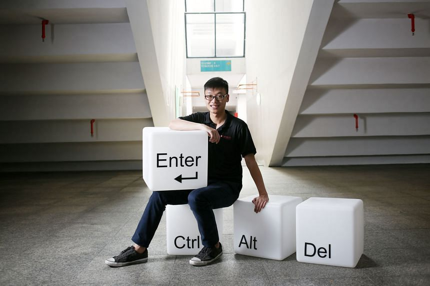 """Mr Eyo Wei Chin pursued a cyber and digital security diploma course via the Polytechnic Foundation Programme and will graduate with a perfect 4.0 grade point average this month. He said the programme gave him the """"stepping stone"""" to do well in school."""