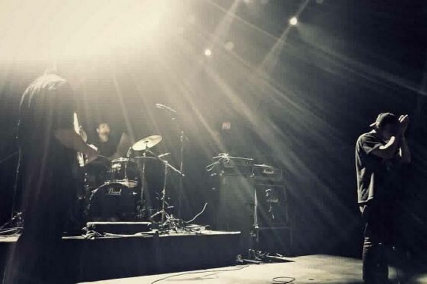 The Wormrot band members in Seoul, Korea.