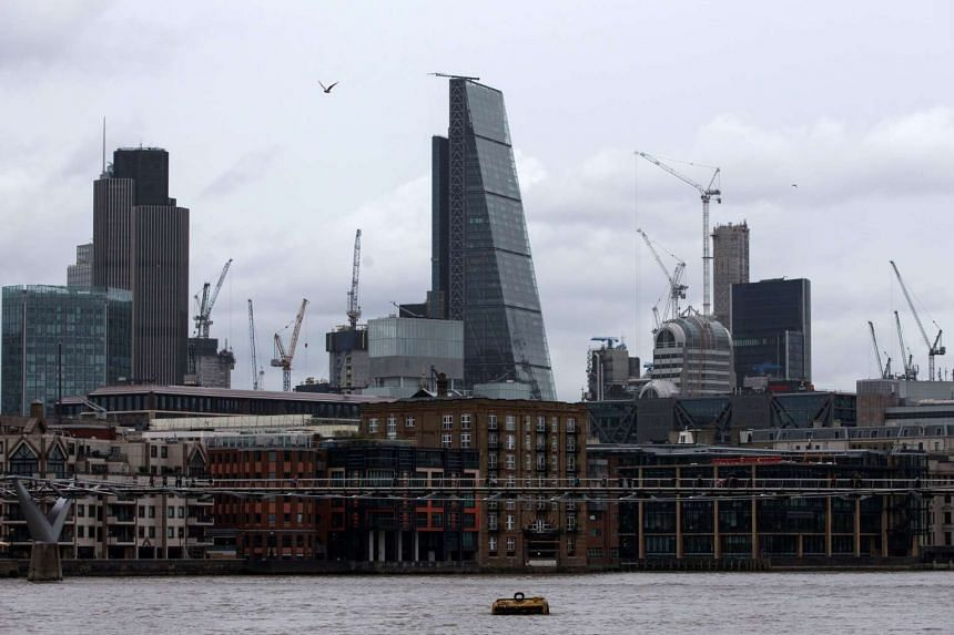 "The Leadenhall Building (centre), also known as ""The Cheesegrater"", in London on March 1, 2017."