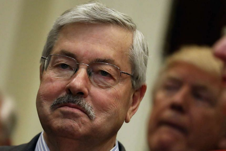 Branstad (above) said he would not hold back from pressuring China on human rights or its maritime territorial ambitions.