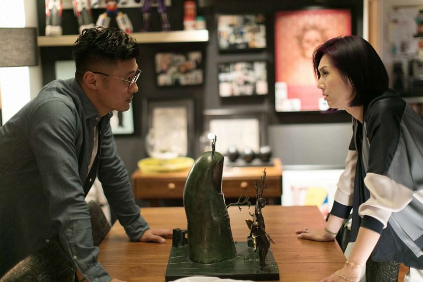 Shawn Yue and Miriam Yeung in Love Off The Cuff.