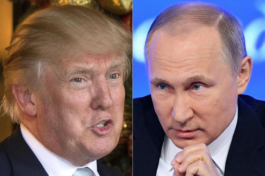 """Trump (left) and Putin enjoyed a """"very good"""" discussion."""