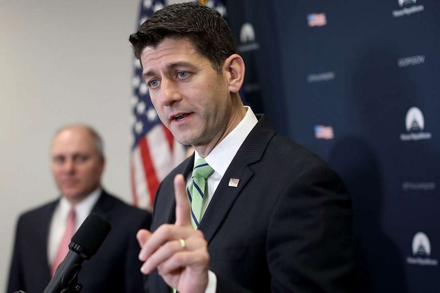US Speaker of the House Paul Ryan answers questions during a press conference, May 2, 2017, in Washington.