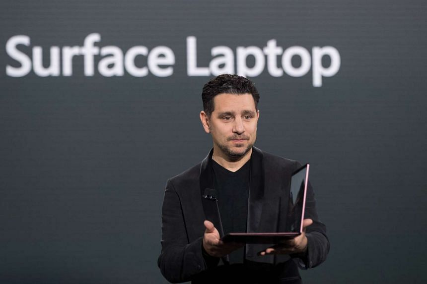 Mr Panos Panay, vice president of Microsoft Surface Computing, speaking about the Microsoft Surface Laptop.