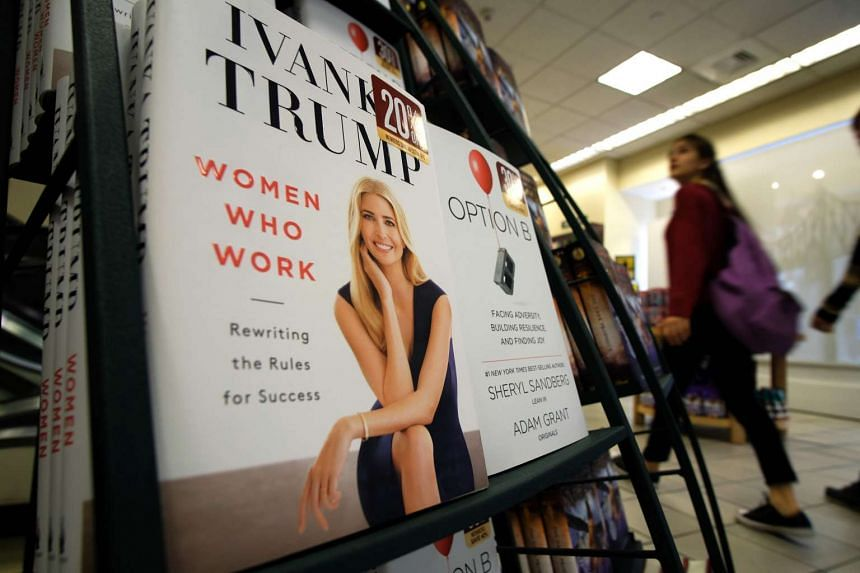 Ivanka Trump's book at a Barnes and Nobel bookstore in New York on May 2, 2017.