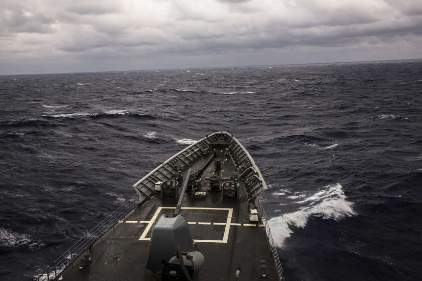 File photo of the USS Chancellorsville in the Luzon Strait, connecting the Philippine Sea to the South China Sea.