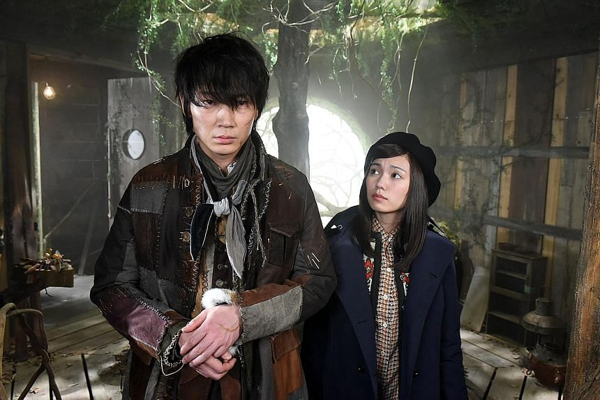 Go Ayano (above left) and Fumi Nikaido in Japanese drama Frankenstein's Love.