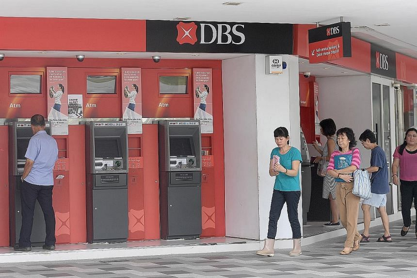 DBS Bank in Bedok Central. The group raised earnings to record levels in the first quarter because of good performances by businesses such as wealth management. DBS' net profit of $1.21 billion beat the average forecast of $1.09 billion by Reuters an