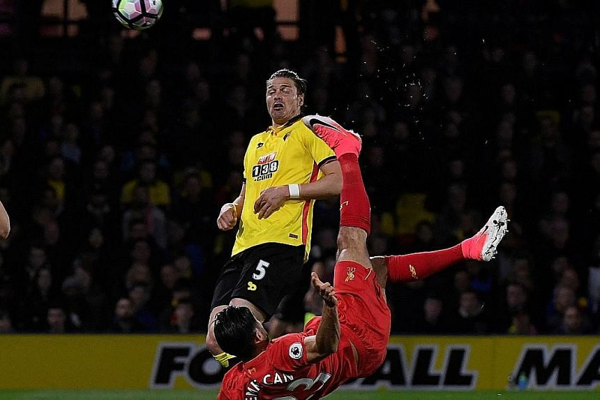 A moment of improvised brilliance from Emre Can, with his spectacular overhead strike giving Liverpool a 1-0 win over Watford.
