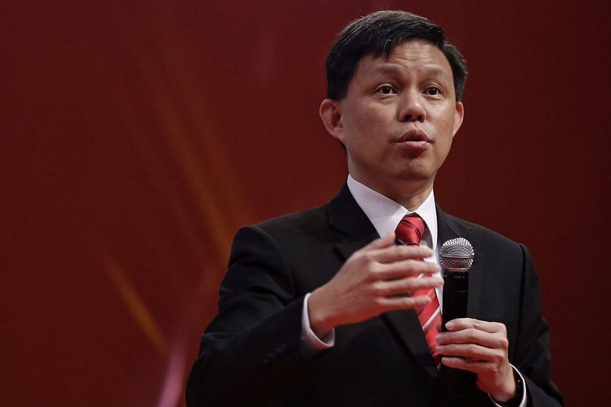 Labour chief Chan Chun Sing speaks at the Temasek Polytechnic graduation ceremony on May 3, 2017.