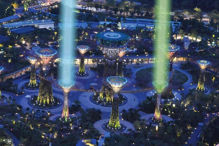 The Supertrees at Gardens by the Bay will be transformed into SaberTrees.