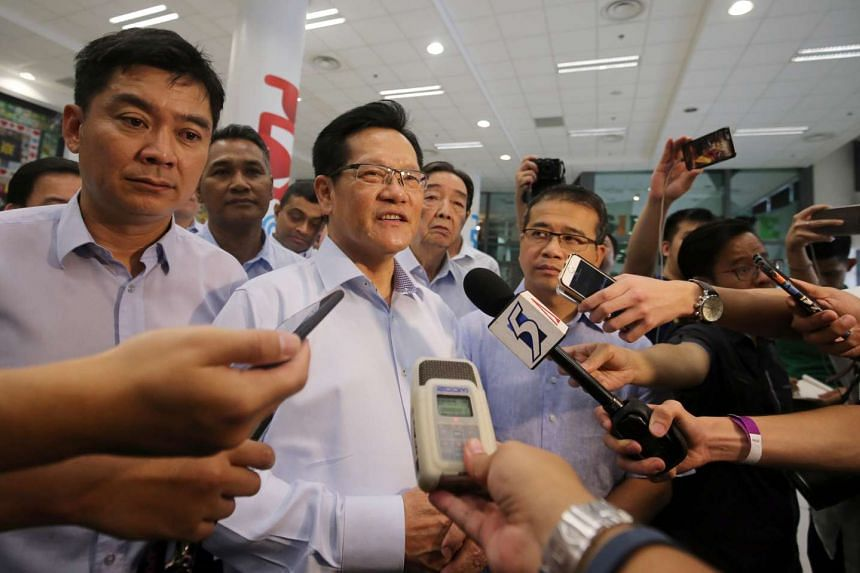 The new Football Association of Singapore (FAS) president Lim Kia Tong meeting reporters after the election on April 29, 2017.