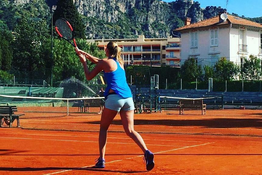 Kvitova posted a photo of her practice session to her Facebook account.