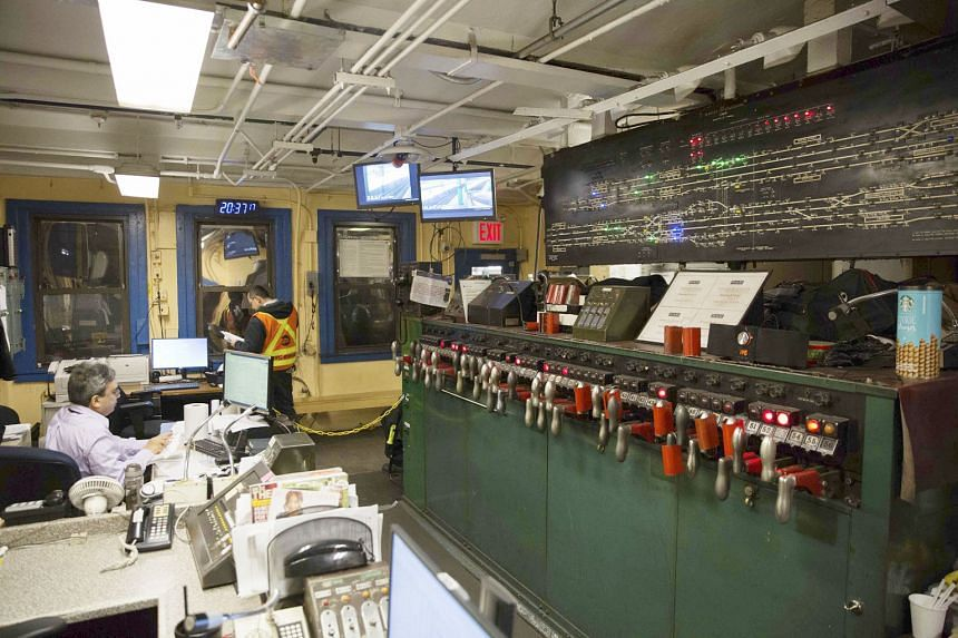 Signalling equipment at the West Fourth Street Supervisory Tower in New York City is old and outdated. The city's subway is struggling with old infrastructure and overcrowding, but the roll-out of a new signal network is unfolding at a glacial pace, and a